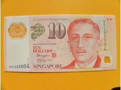 bankovka 10 dolarů Singapur 2017- série 5HJ - polymar