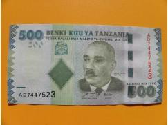 bankovka 500 šilingů Tanzánie 2010 -série AD