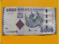 bankovka 5000 šilinků Tanzanie 2010 -série CJ