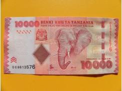 bankovka 1000 šilinků Tanzanie 2010 -série DE