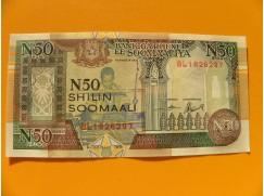 bankovka 50 somálských šilinků Somálsko 1991