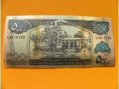 bankovka 500 šilinků Somaliland 2011 - série LG