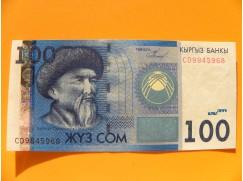 bankovka 100 somů Kyrgyzstán 2009 - série CD