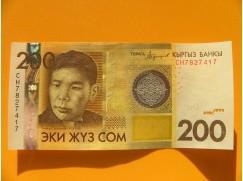 bankovka 200 somů Kyrgyzstán 2016 - série CH