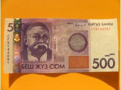 bankovka 500 somů Kyrgyzstán 2016 - série CF