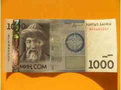 bankovka 1000 somů Kyrgyzstán 2016 - série BF