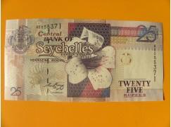 bankovka 25 rupií Seychely  - série AE