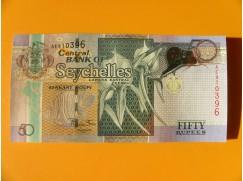 bankovka 50 rupií Seychely 2011 - série AE