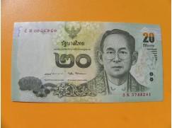 bankovka 20 bahtů Thajsko 2017 -série K