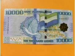 bankovka 10000 Leones Siera Leone 2010 -série DJ