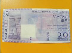 bankovka 20 patac  Macau - listopad 2013 -série BK