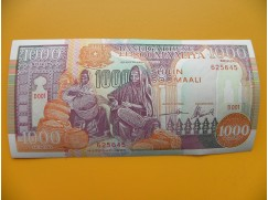 bankovka 1000 šilinků Somálsko 1990 - série D001