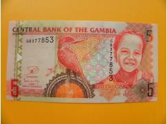 bankovka 5 gambijských dalasi