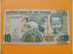 bankovka 10 gambijských dalasi /2013