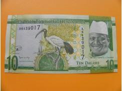 bankovka 10 gambijských dalasi /2015