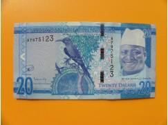 bankovka 20 gambijských dalasi /2015