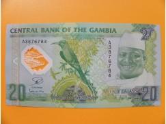 bankovka 20 gambijských dalasi /2014-2015 polymer