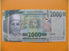 bankovka 2000 franků Guniea/2018