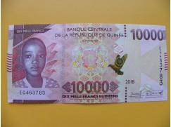 bankovka 10 000 franků Guniea/2018