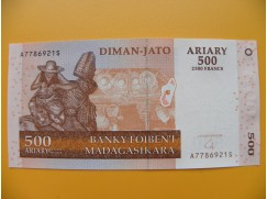 bankovka 500 madagarských ariarů/2004 hzg