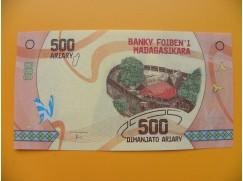 bankovka 500 madagarských ariarů/2017dddd