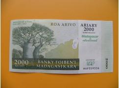 bankovka 2000 madagarských ariarů/2007 - výroční vvv