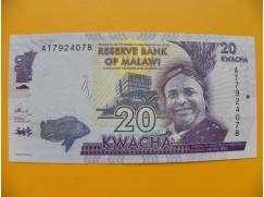 bankovka 20 malawijských kwacha/2014