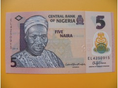 bankovka 5 nigerijských naira/2016 - polymer