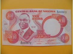 bankovka 10 nigerijských naira/2001-2002