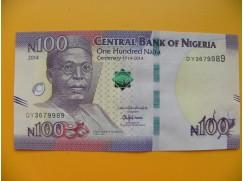 bankovka 100 nigerijských naira/2014