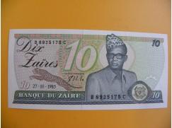 bankovka 10 zaire/1985