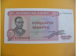 bankovka 50 zairských makuta/1979