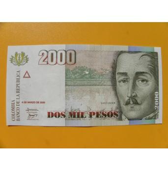 bankovka 2000 kolumbijských pesos/2005