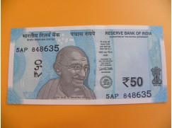 bankovka 50 indických rupií/2017