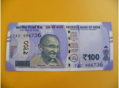 bankovka 100 indických rupií/2018
