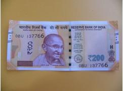 bankovka 200 indických rupií/2017