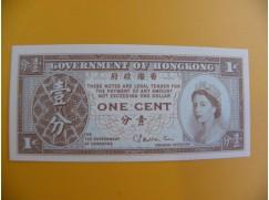bankovka 1 hongkongský cent/1971-1981