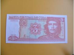 bankovka 3 kubánské pesos/2006