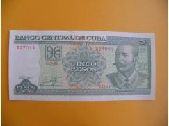 bankovka 5 kubánských pesos/2017