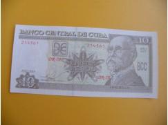 bankovka 10 kubánských pesos/2015
