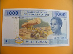 bankovka 1000 franků CFA/2002
