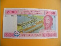bankovka 2000 franků CFA/2002