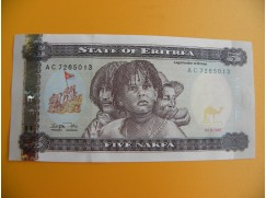 bankovka 5 eritrejských nakf/1997