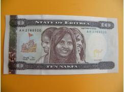 bankovka 10 eritrejských nakf/1997