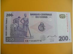 bankovka 200 konžských franků/2007