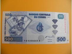 bankovka 500 konžských franků /2002