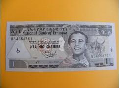 bankovka 1 etiopský birr/1997