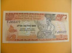 bankovka 5  etiopských birrů/1991