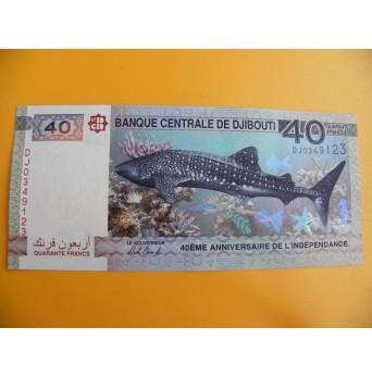 bankovka 40 džibutských franků/2017