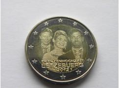 Euro mince LUCEMBURSKO 2012  královská svatba UNC